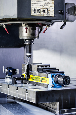 Close up of a drill press