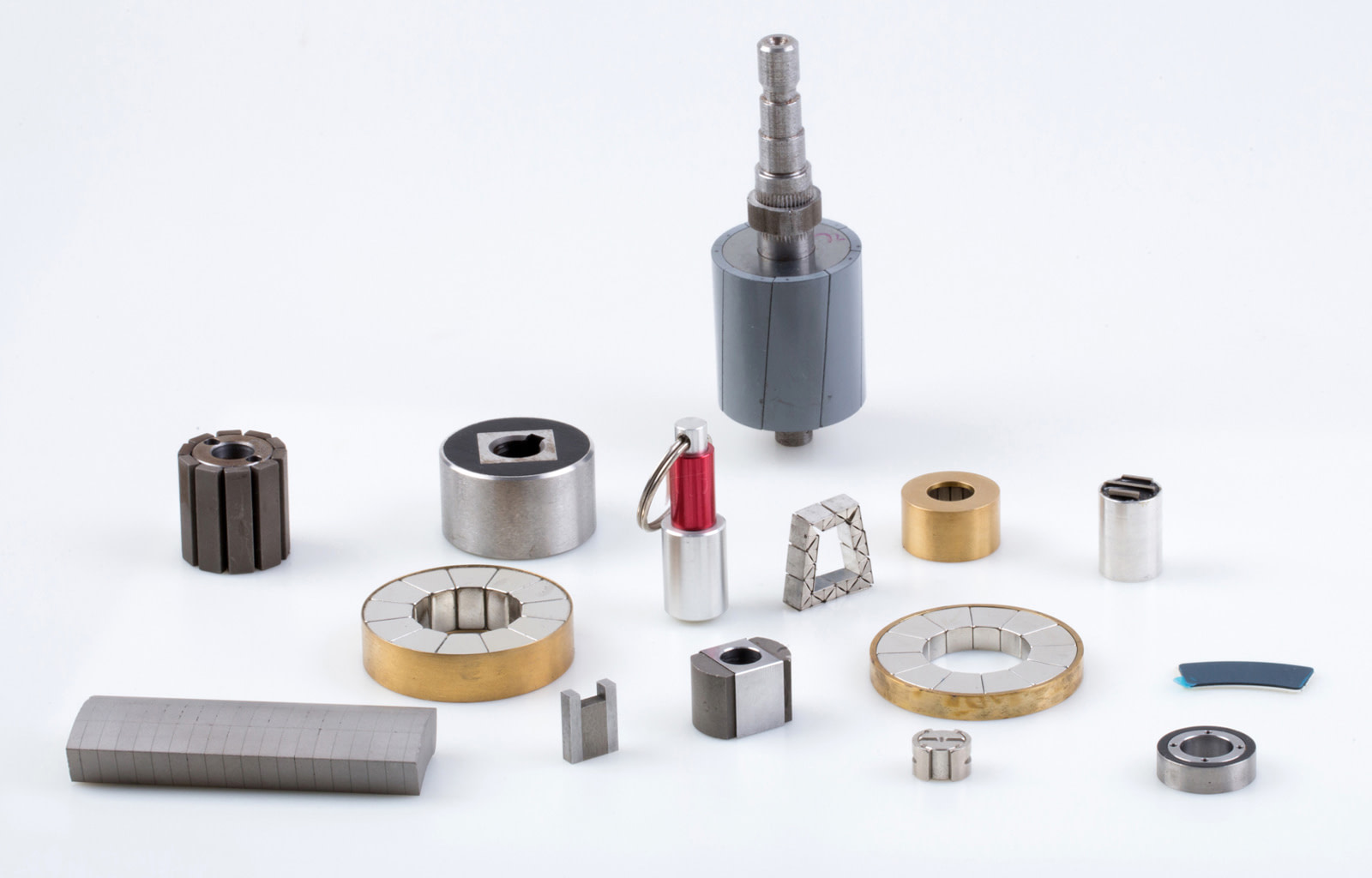 Close up on small magnetic assembly products