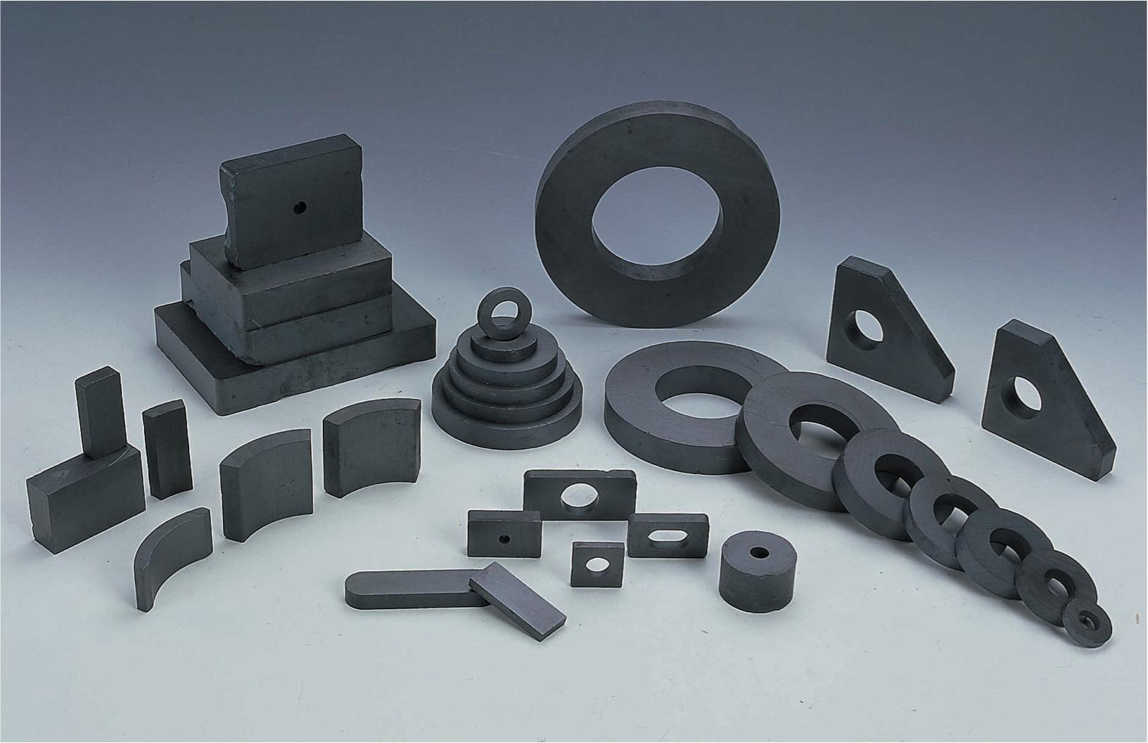 close up of ceramic magnets