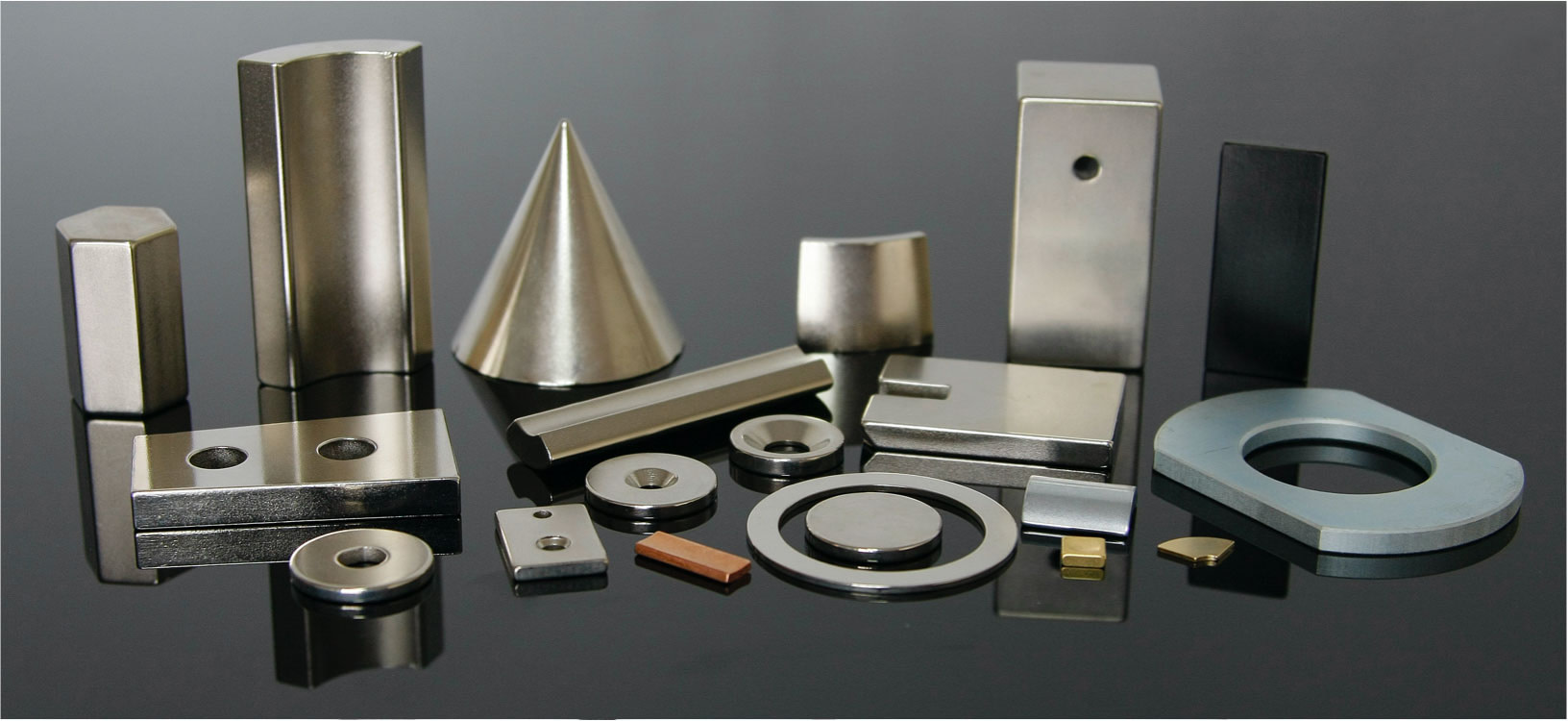 Typical forms and sizes of Neodymium magnets